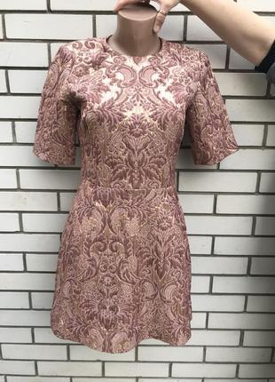 Очень красивое,жаккардовое платье с золотым блеском,фактурное,...
