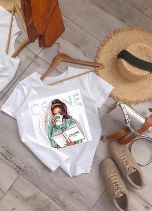 ❤ женская белая футболка  ❤