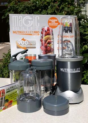 Блендер NutriBullet Pro 900W Кухонный - набор из 7 предметов