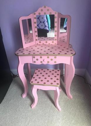 Трюмо Teamson Kids, туалетный столик с зеркалом, трельяж