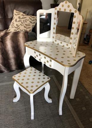Teamson Kids туалетный столик с зеркалом, трельяж (стульчик)