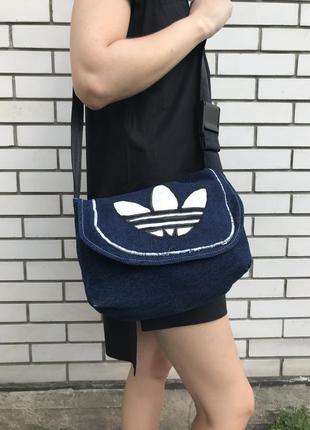 Джинсовая сумка на одно плечо, кроссбриди ,спортивная в стиле ...