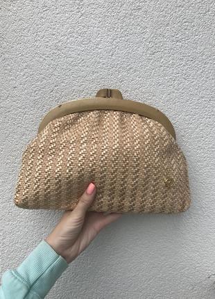 Красивый,винтажный клатч,сумочка плетёная, люкс бренд
