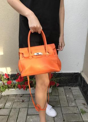 Кожанная сумка в стиле hermès