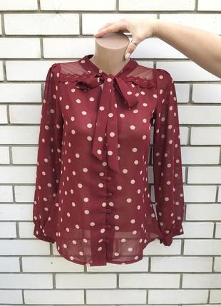 Красивая,романтическая,оффисная блузка,рубаха в горохи,кружево...