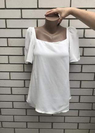Белая ,комбинированная блузка с пышными рукавами, оригинал,mas...