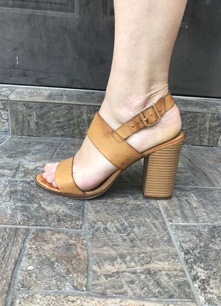 Кожаные туфли, босоножки на толстом каблуке, кожа 100%,  atmos...