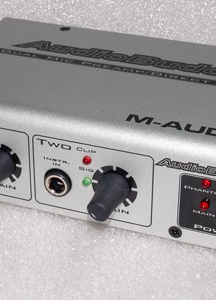 M-AUDIO Audio Buddy микрофонный гитарный предусилитель преамп