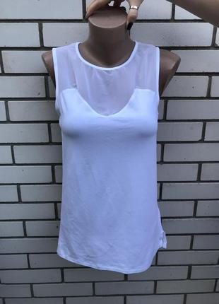 Белая,комбинированная майка,блуза с прозрачной спинкой, asos