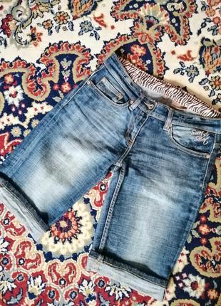 Бриджи шорты джинсовые женские