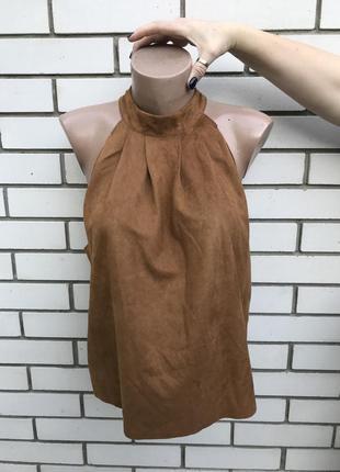 Новый топ,блуза,майка под замшу, missguided