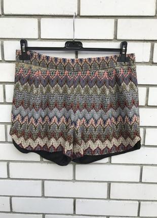 Трикотаж-ажур шорты на подкладке,этно стиль, vero moda