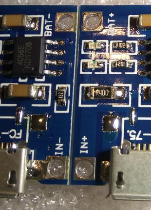 Модуль Заряда Li-Ion аккумуляторов TP4056 Micro USB Без Защиты