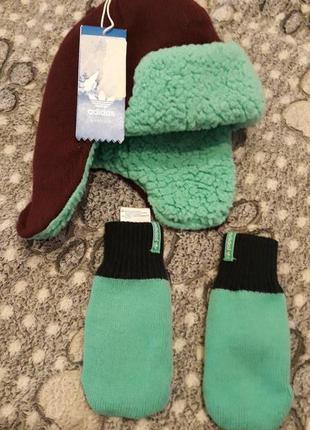 Набор набір шапка рукавиці