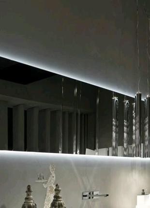 Парящее зеркало с подсветкой на заказ