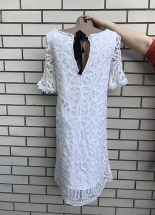 Белое,кружевное,нарядное,вечернее платье,открытой спиной,хлопо...