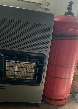 Газовый обогреватель в комплекте с газовым балонном