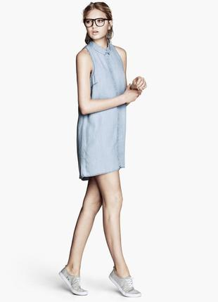 Голубое платье рубашка,халат,хлопок100%,маленький размер