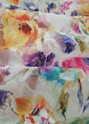 Кроп- топ(блузка)new look в цветочный принт