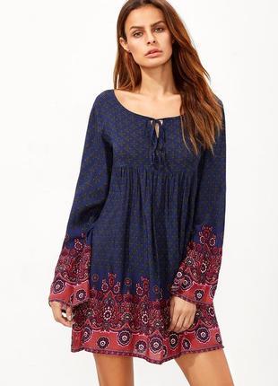 Блузка,туника,платье,рубаха в этно,бохо,деревенский стиль,штап...