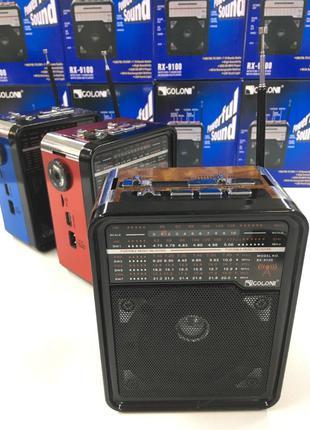 Радиоприемник GOLON RX-9100 с MP3, USB+SD, Портативное Радио