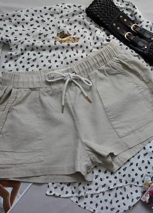 Льняные шорты размер с
