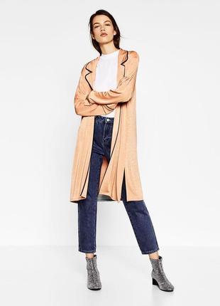 Кардиган,удлиненный жакет,пиджак в бельевом стиле без застежки...