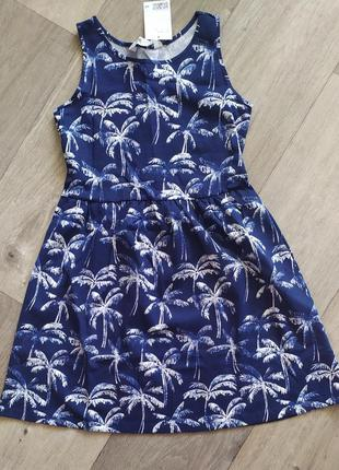Оригинальное платье сарафан h&m для девочек 8-10 лет