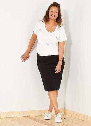 Новая,фактурная,чёрная юбка-карандаш,большого размера,l.seener...