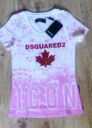 Новая женская футболка dsquared.