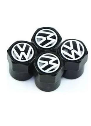 Колпачки на нипель колес Volkswagen Black