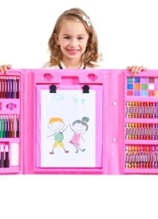 Детский Набор с мольбертом для творчества и рисования.