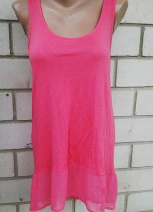 Блузка(майка) warehouse удлиненная,платье,туника,прозрачная по...