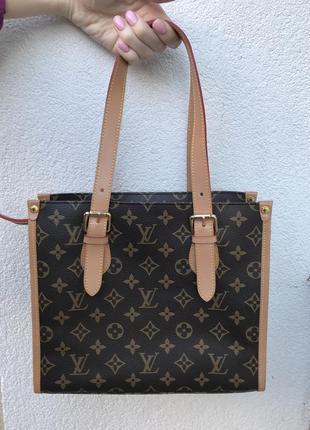 Красивая сумка louis vuitton,кожа,держит форму,