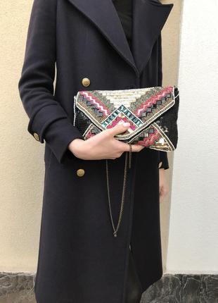 Красивая сумочка,клатч с ручной вышивкой бисером,этно,бохо сти...