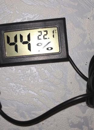 Гигрометр термометр для инкубатора с выносным датчиком. Мини.