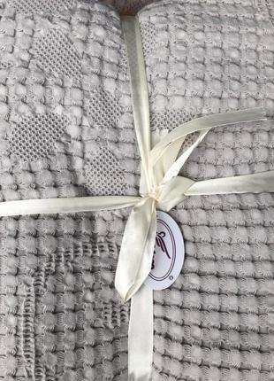 Простынь покрывало ткань лен евро размер