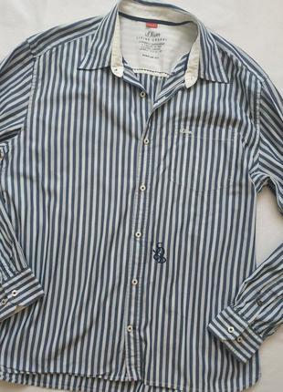 """Полосатая хлопковая рубашка с длинным рукавом """"s.oliver"""" regul..."""