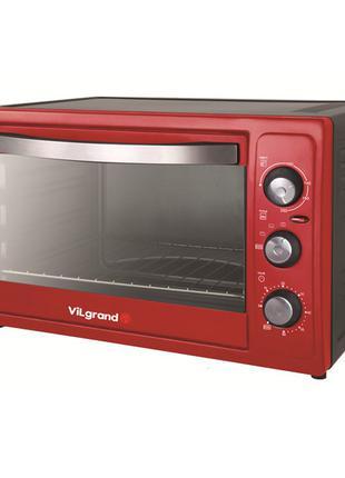 Электродуховка 36 л красная ViLgrand VEO-361-R