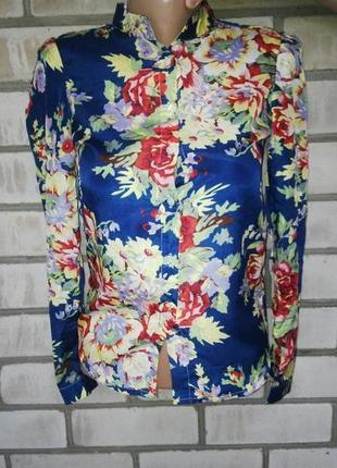Блузка (рубашка) с цветочным принтом