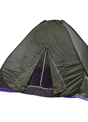 Палатка летняя автомат туристическая походная трехместная 2х2х1.3