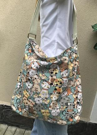 Красивая сумка,торба,кросбоди,планшетка на одно плечо,с веселы...