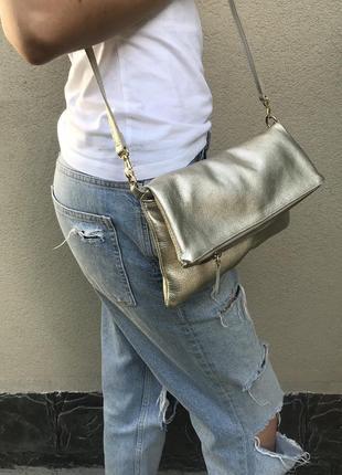 Золотистая,маленькая сумка на одно плечо,кросбоди,клатч,