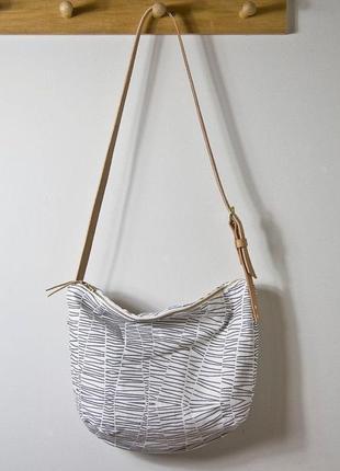 Эксклюзивная сумка ручной работы,кожа+текстиль(ручная роспись)...