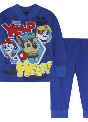 Пижама для мальчика, синяя. щенячий патруль.