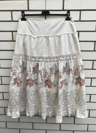 Очень красивая юбка,кружево,принт вышивка,этно,бохо стиль,боль...