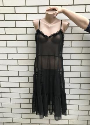 Прозрачное,секси платье,сарафан рюшами,воланами,открытая спина...