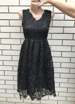 Чёрное,кружевное,вечернее,нарядное платье,сарафан,фатин по кра...