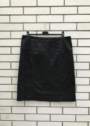 Чёрная юбка-карандаш,офисная,большой размер,хлопок