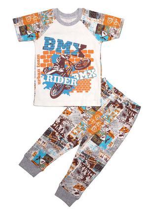 Пижама для мальчика, с коротким рукавом. bmx